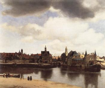Johannes Vermeer : View on Delft